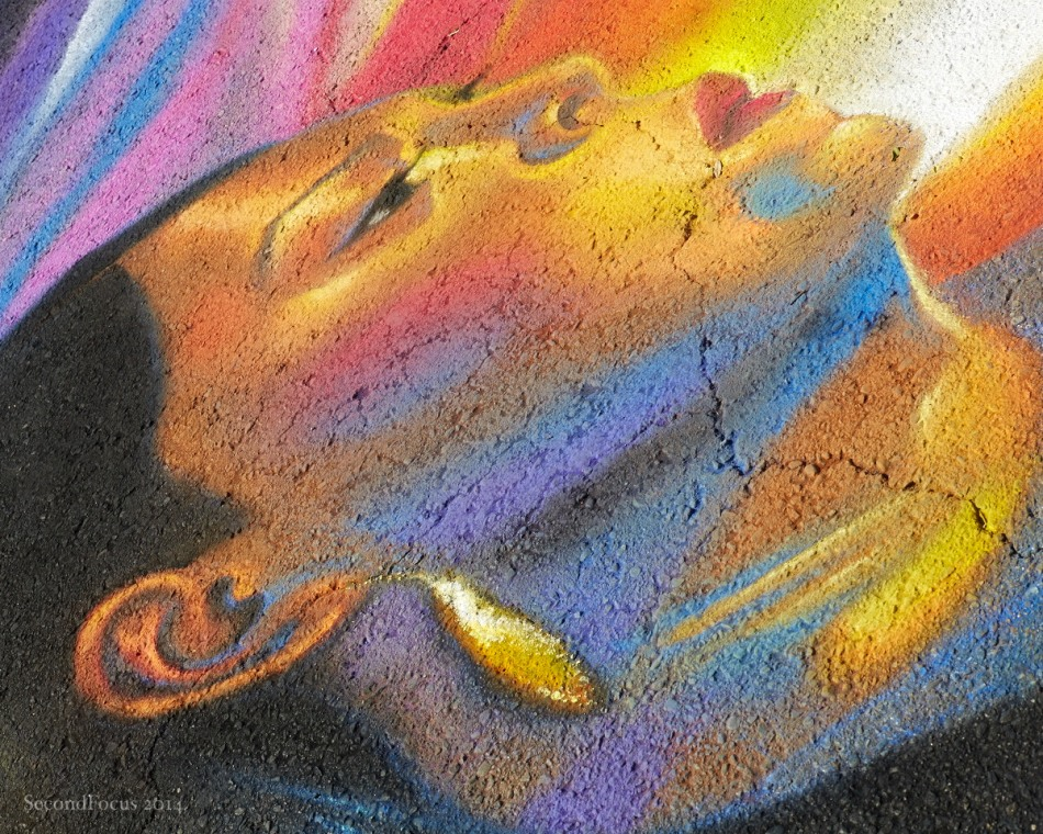 An Other Worldly Glow In Chalk