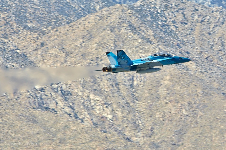 F/A-18 Hornet Departing Palm Springs