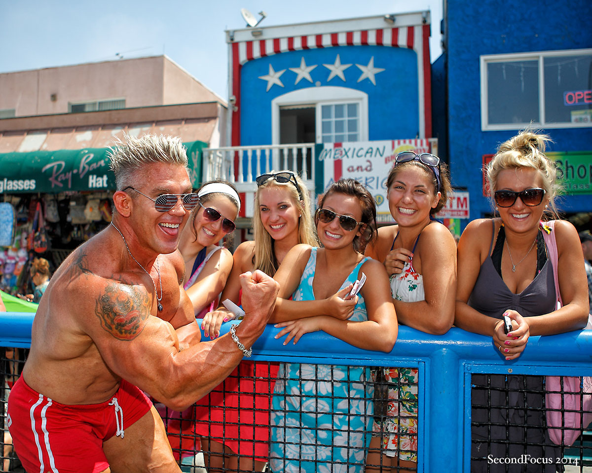 You Will Find Me At Muscle Beach!