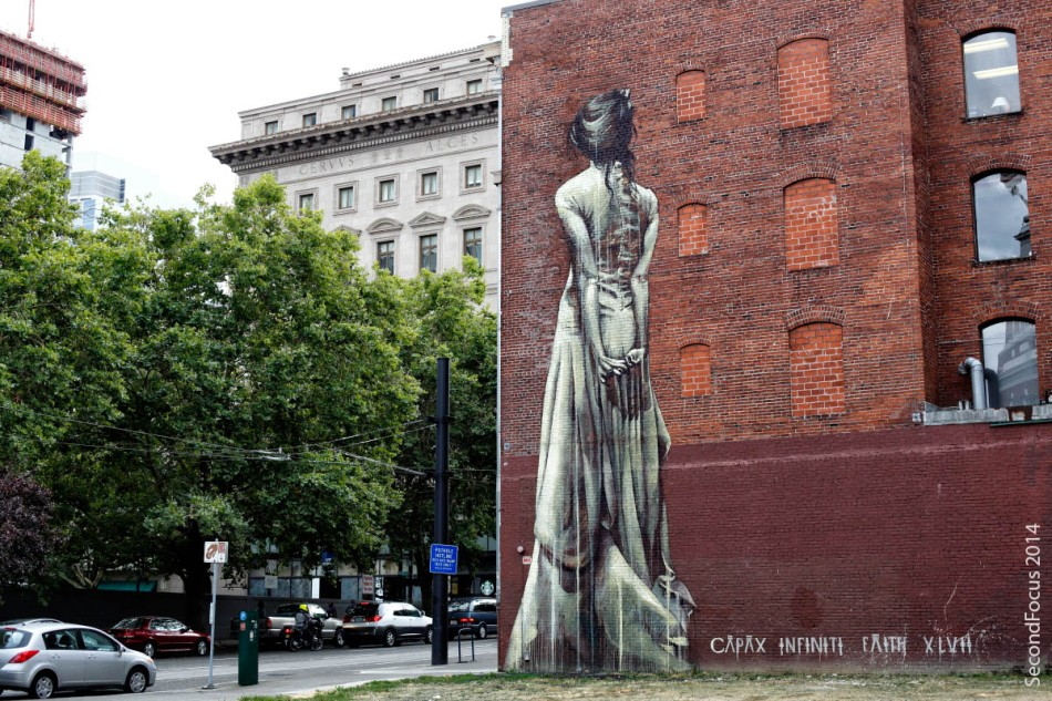 Tall Woman Mural Street Art