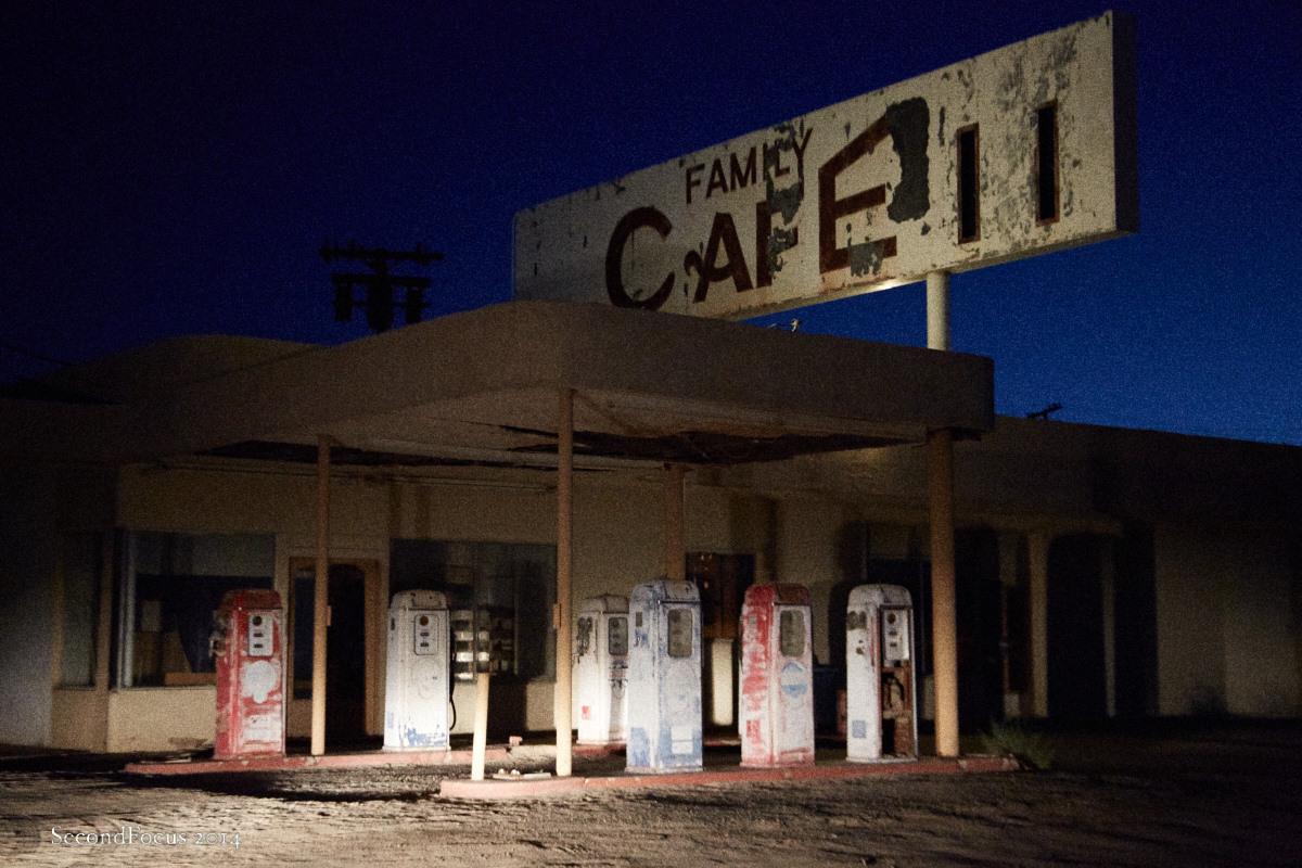 Desert Center At Night