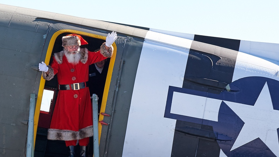"Santa Arriving In His C-47 ""What's Up Doc?"""