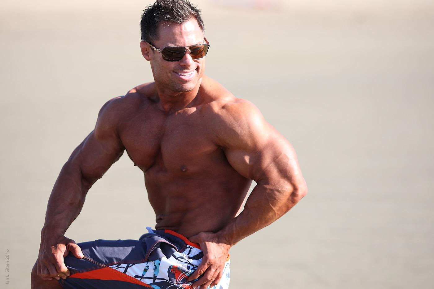 Jake Sawyer on the beach in Marina Del Rey California