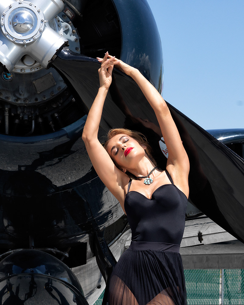 Gabriella Muttone at the Palm Springs Air Museum