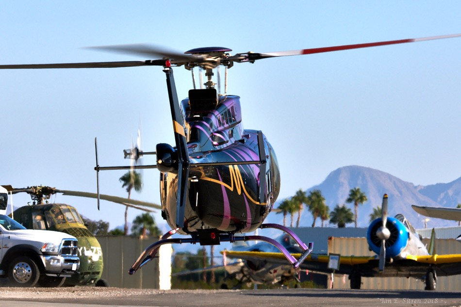 Helicopter Departing Palm Springs Air Museum