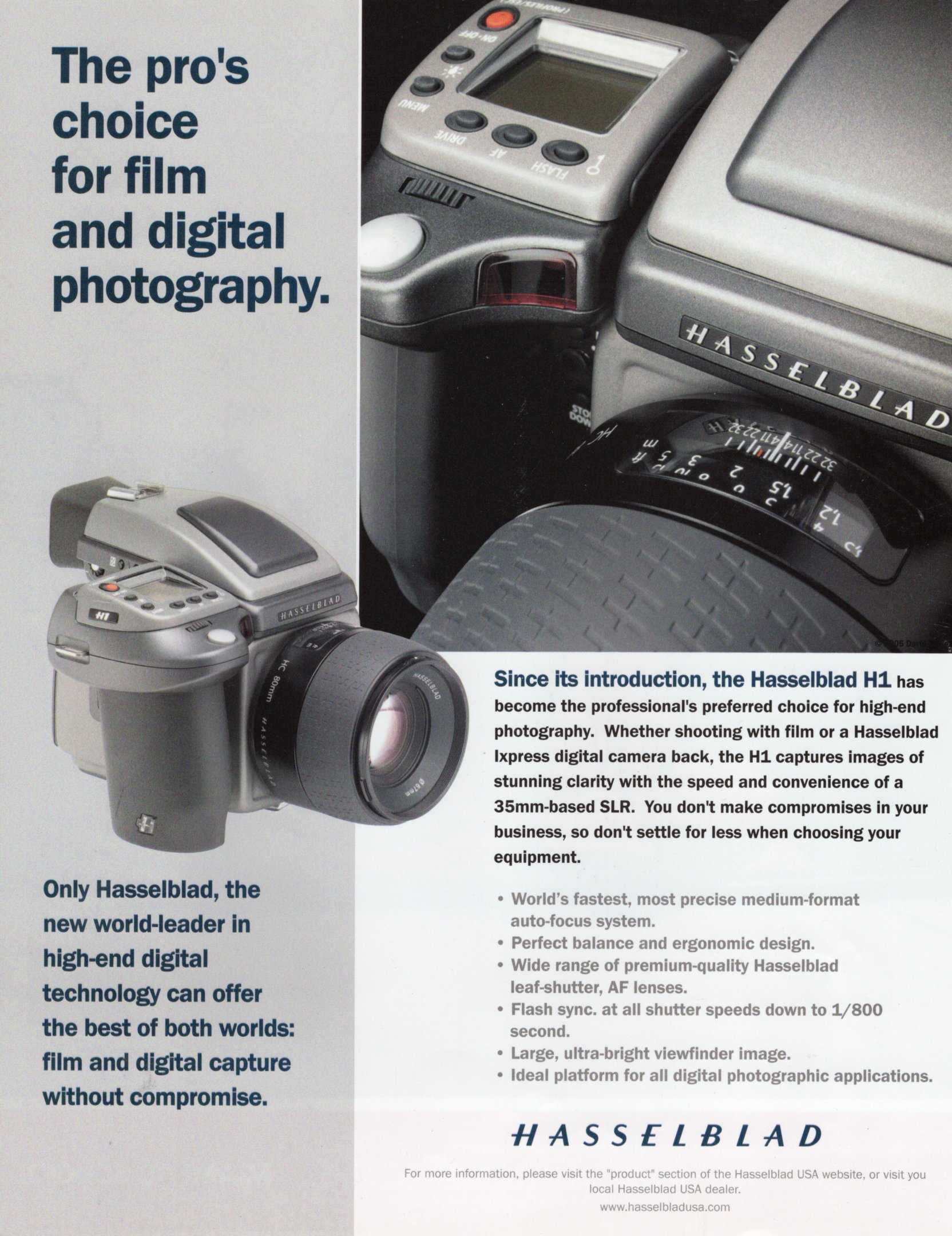 Hasselblad H1 Ad Picture Magazine July:Aug 2005